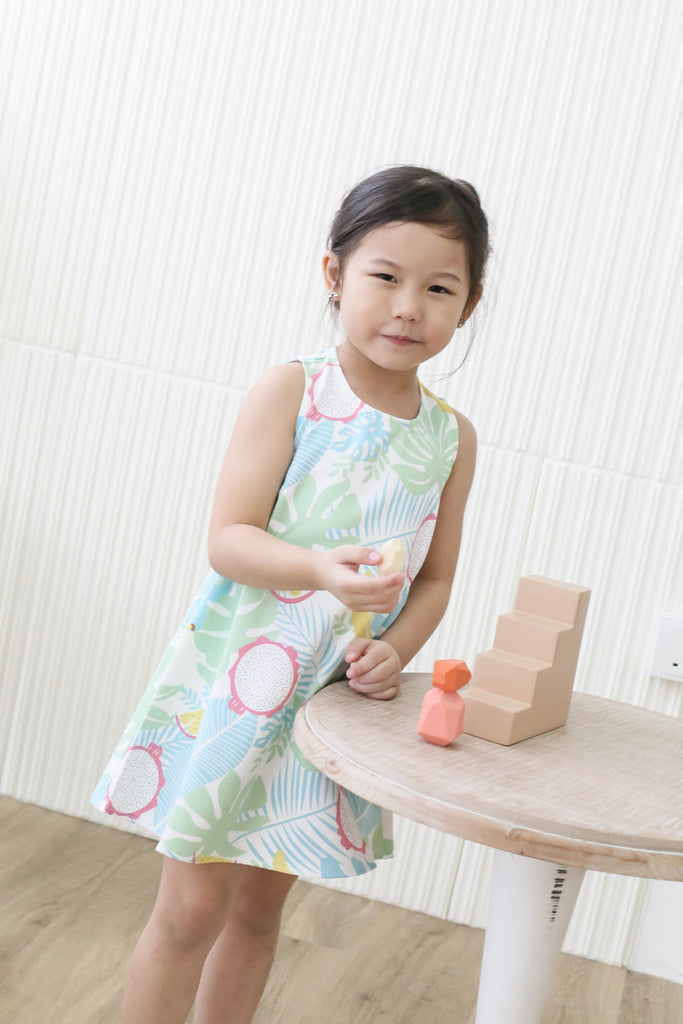 *LITTLE TOPAZETTE* FRUITY FIESTA GIRL DRESS