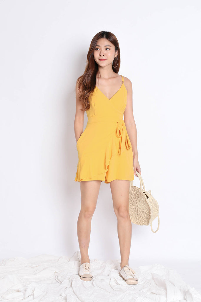 *TPZ* (PREMIUM) MYLA ROMPER DRESS IN SUNSHINE