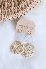 *RESTOCKED* CROCHET STRAW EARRINGS