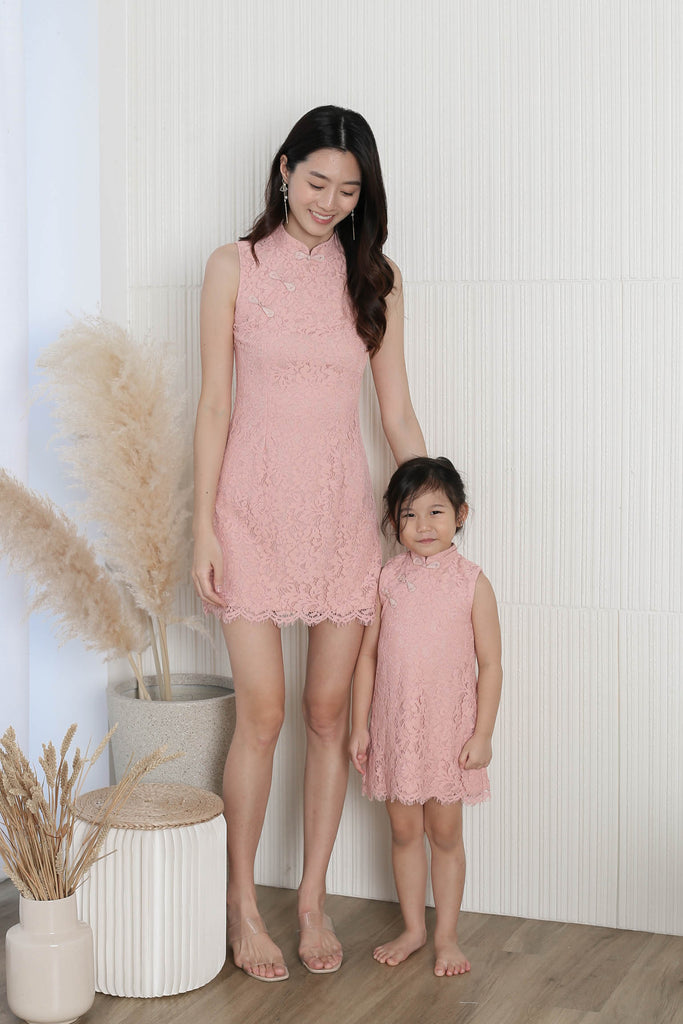 *LITTLE TOPAZETTE* ANQI CHEONG SAM IN PINK