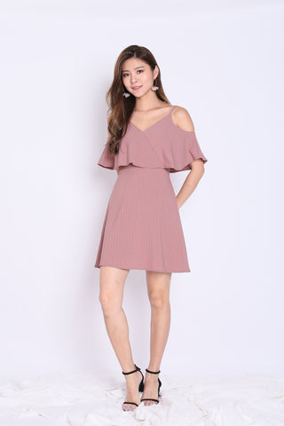 *TPZ* (PREMIUM) LENDON STRIPES DRESS IN DUSTY PINK
