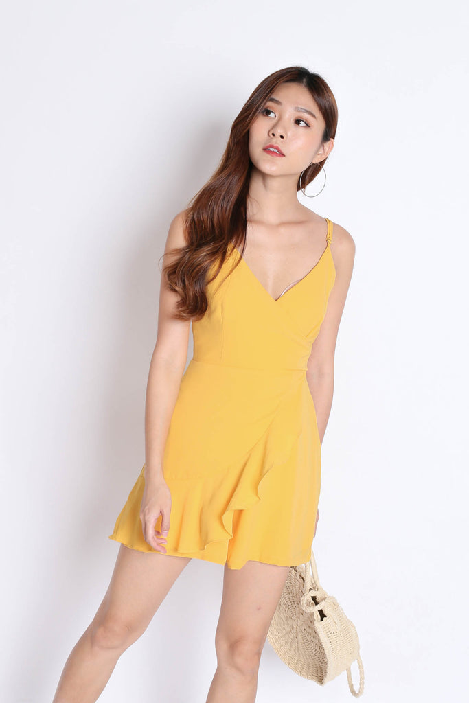 *TPZ* (PREMIUM) MYLA ROMPER DRESS IN SUNSHINE - TOPAZETTE