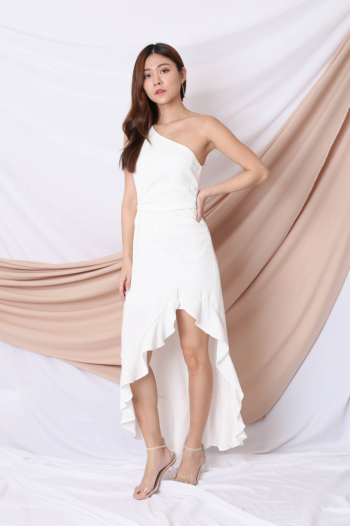 *TPZ* (PREMIUM) DESTINE TOGA MAXI IN WHITE