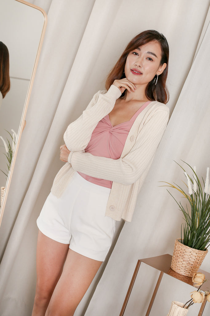 *BACKORDER* LIZ KNIT CARDIGAN IN CREAM