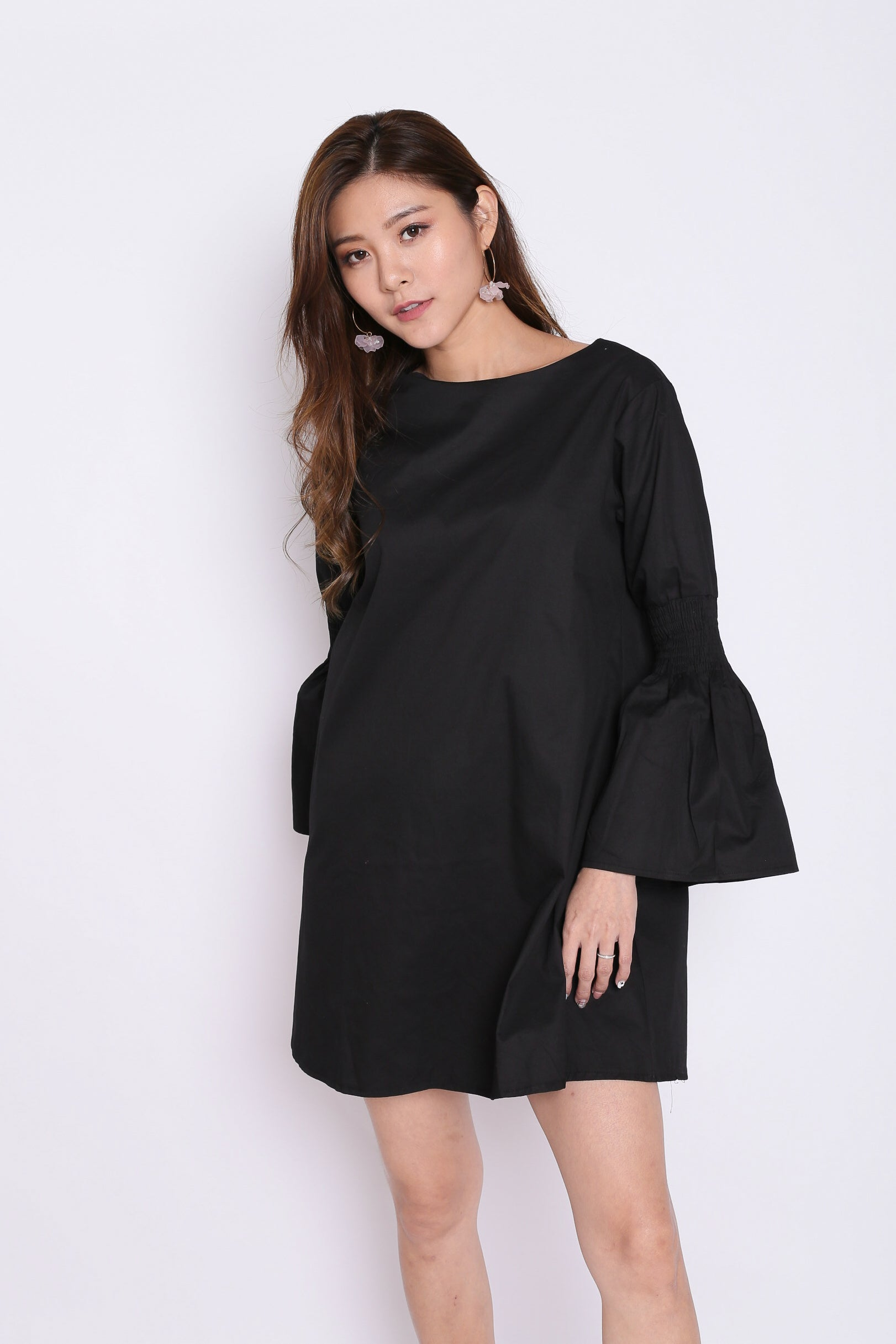 SADE OVERSIZED DRESS IN BLACK
