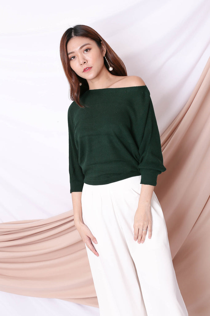 YONA KNIT TOP IN FOREST