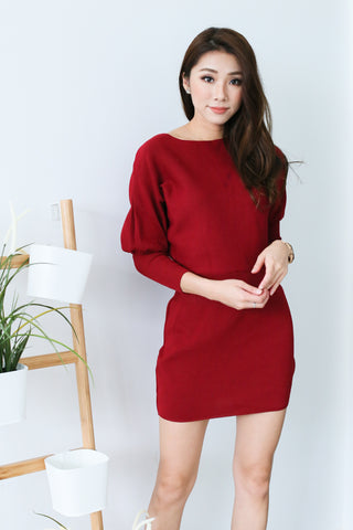 6770fb9c4e8 COSY UP KNIT DRESS IN WINE - TOPAZETTE