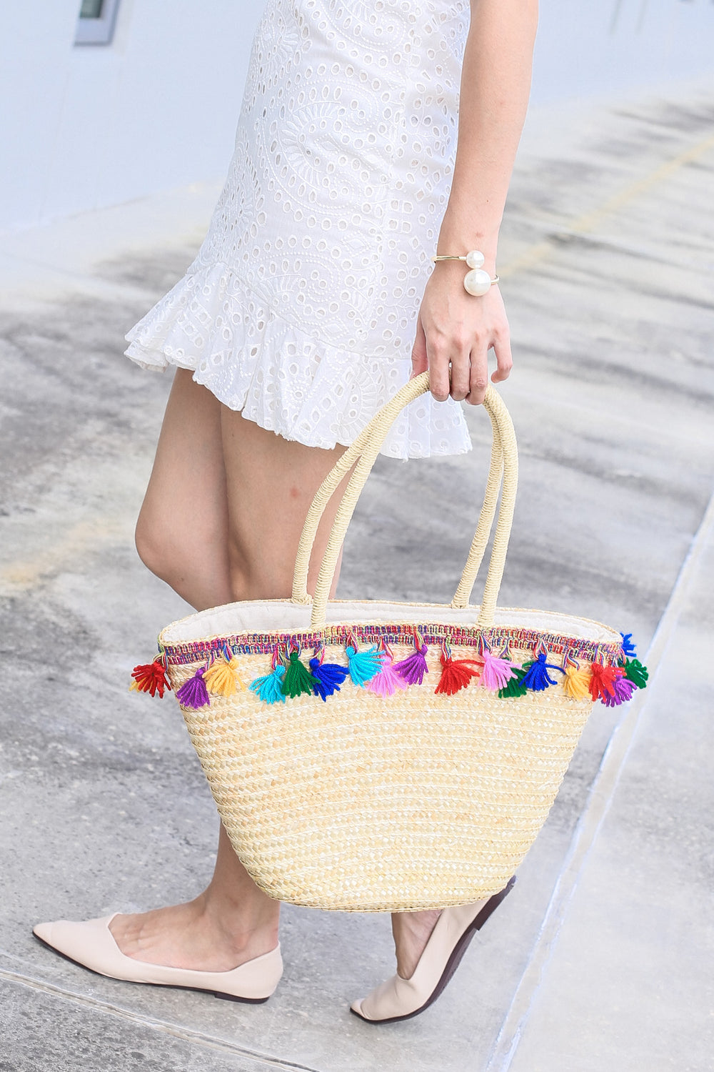 *BACKORDER* BALI RATTAN TOTE BAG