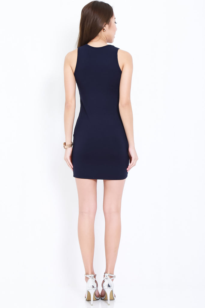 (BACKORDER) TANKFUL FOR YOU DRESS IN NAVY - TOPAZETTE