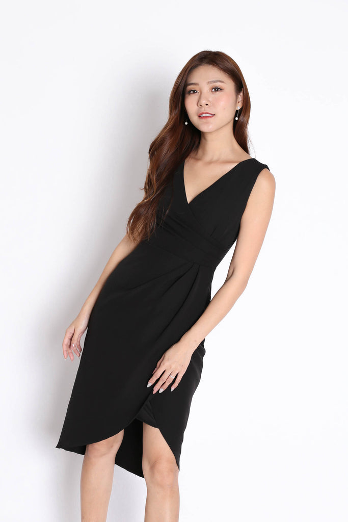 *TPZ* (PREMIUM) HARRIET TULIP DRESS IN BLACK