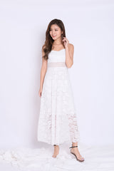 BELINE LACE MAXI IN WHITE