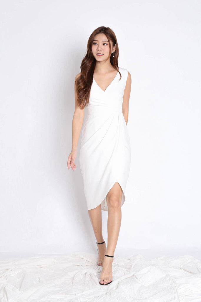 *TPZ* (PREMIUM) HARRIET TULIP DRESS IN WHITE