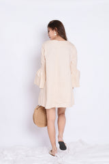 SADE OVERSIZED DRESS IN LIGHT KHAKI