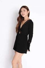 RYLEE BOHO ROMPER IN BLACK