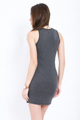 (RESTOCKED) TANKFUL FOR YOU DRESS IN DARK GREY - TOPAZETTE