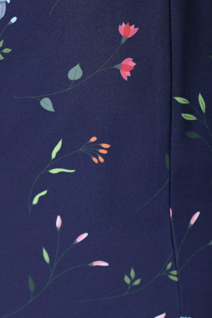 *TPZ* (PREMIUM) ELOISE DRESS IN NAVY FLORALS - TOPAZETTE