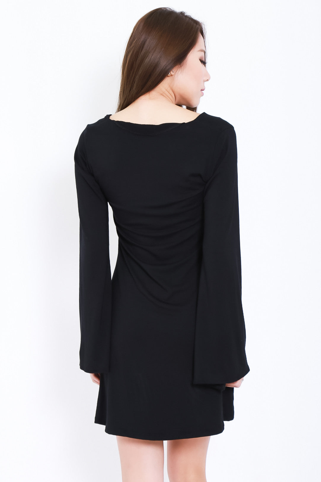 *RESTOCKED* BREE LACED BELL SLEEVES DRESS IN BLACK - TOPAZETTE