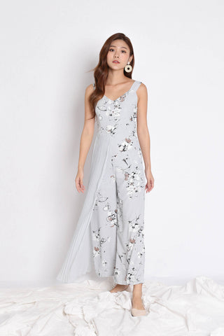 *TPZ* (PREMIUM) TRINA JUMPSUIT IN GREYISH BLUE ABSTRACT FLORALS