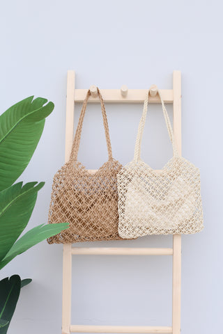 *BACKORDER* JANIA WOVEN SHOULDER TOTE BAG
