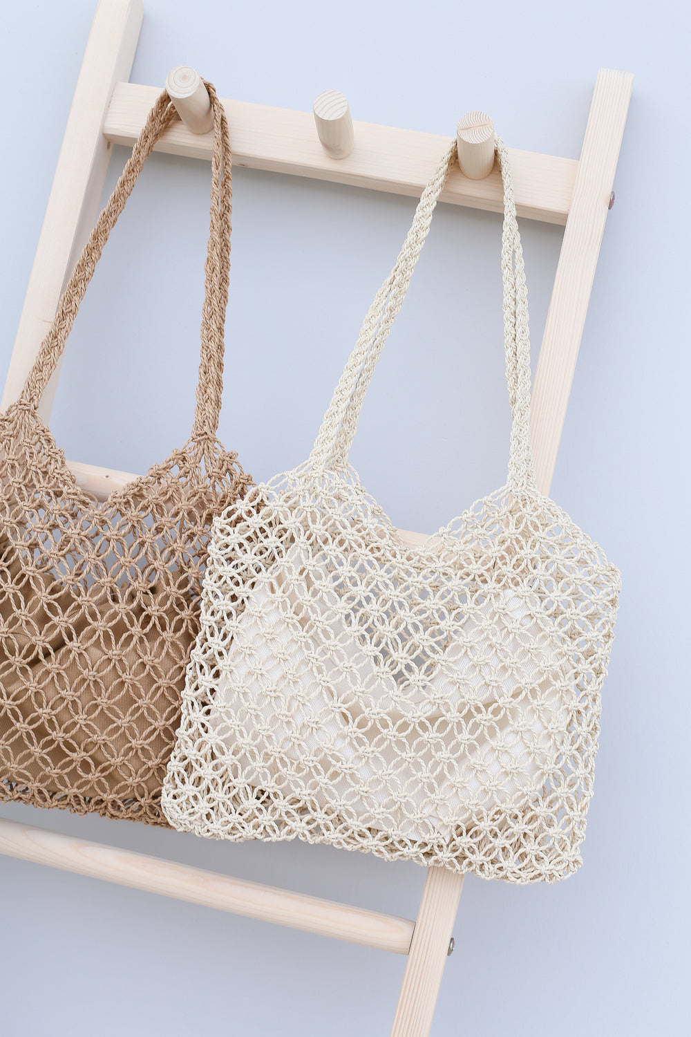 JANIA WOVEN SHOULDER TOTE BAG