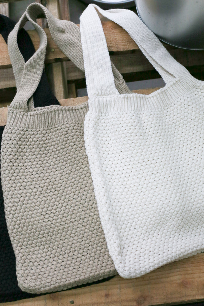 DREA KNIT BAG (CREAM, TAUPE, BLACK)