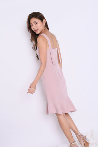 *TPZ* (PREMIUM) UMI RUFFLES MERMAID DRESS IN DUSTY PINK