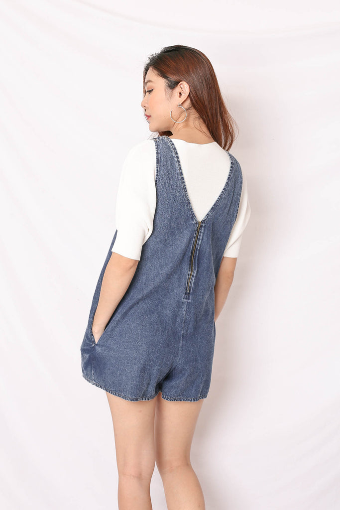 DANI DENIM DUNGAREE IN DARK WASH