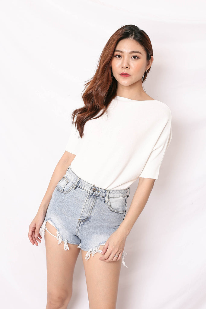 *BACKORDER* HILA TOP IN WHITE