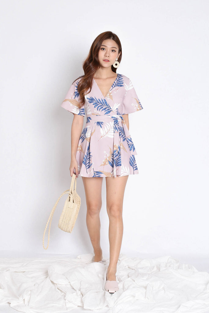 *TPZ* (PREMIUM) EMMER DRESS ROMPER IN DUSTY PINK FLORALS