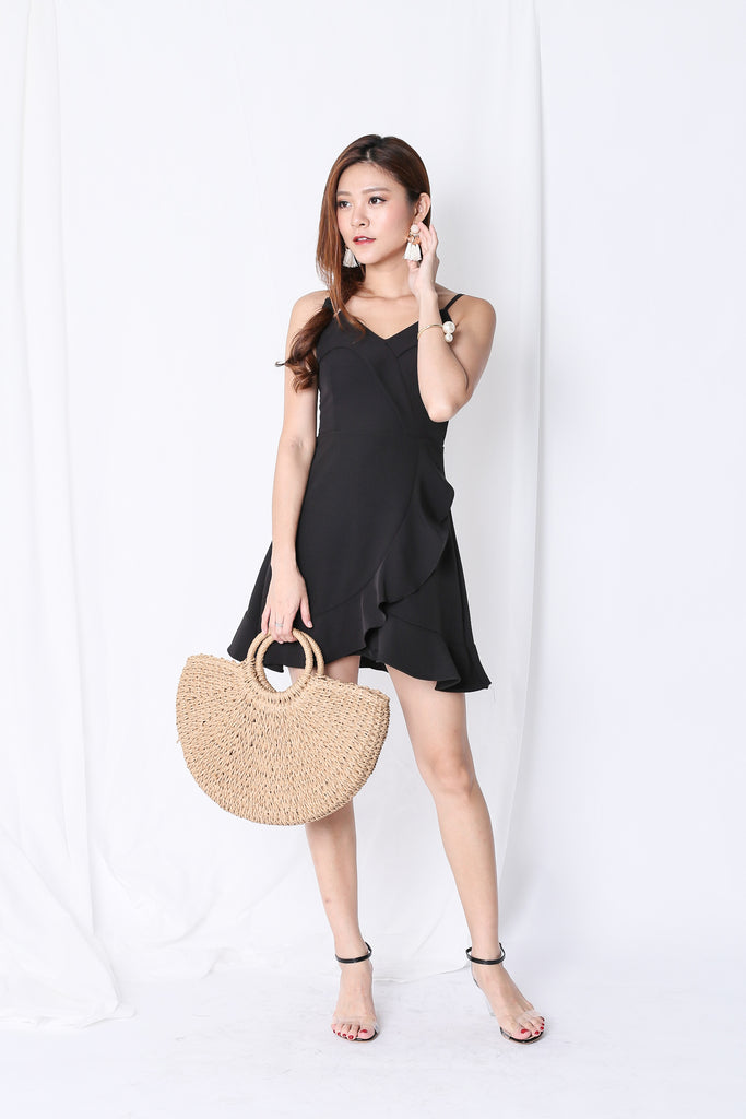 *TPZ* (PREMIUM) CHLOE RUFFLES DRESS IN BLACK - TOPAZETTE