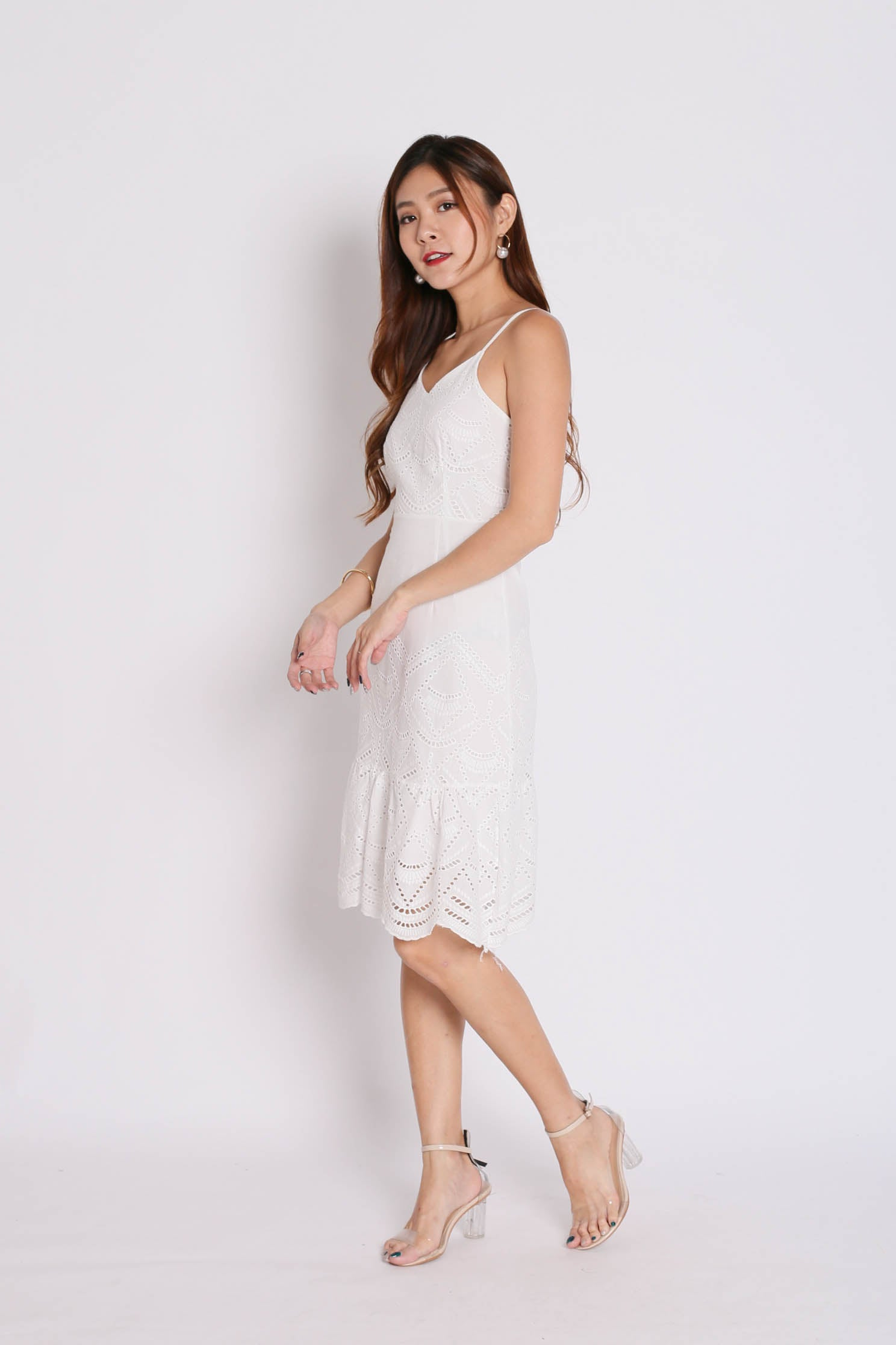 *TPZ* (PREMIUM) GERLISA EYELET DRESS IN WHITE