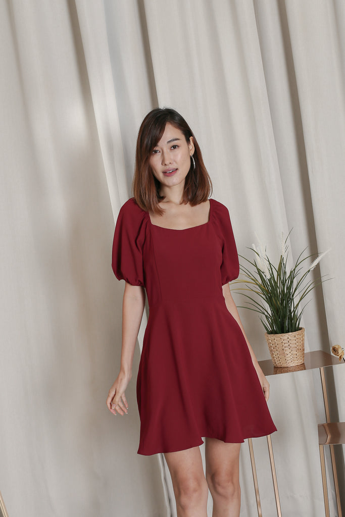 *TPZ* ALIS DRESS ROMPER IN BURGUNDY