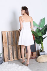 SOLEIL EMBROIDERY DRESS IN WHITE