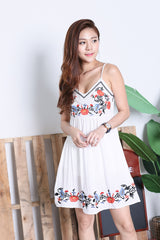 *RESTOCKED* SOLEIL EMBROIDERY DRESS IN WHITE