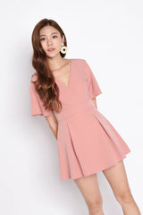*TPZ* (PREMIUM) EMMER DRESS ROMPER IN POWDER PINK