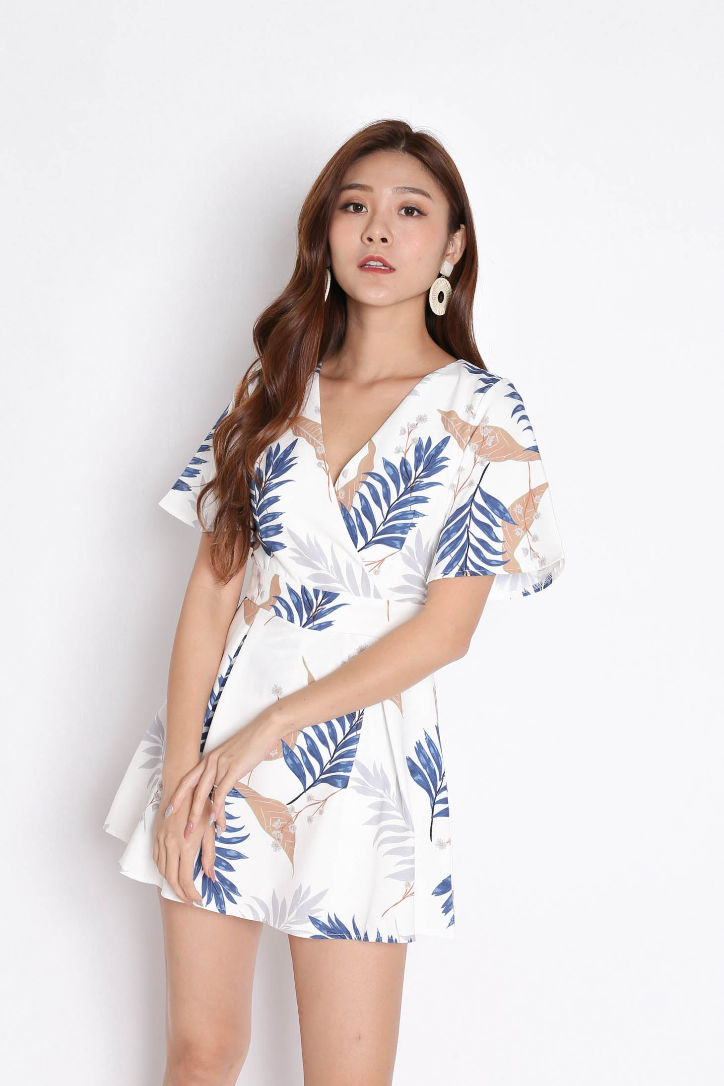 *TPZ* (PREMIUM) EMMER DRESS ROMPER IN WHITE FLORALS