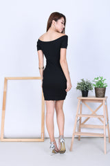 EMERSON KNIT DRESS IN BLACK