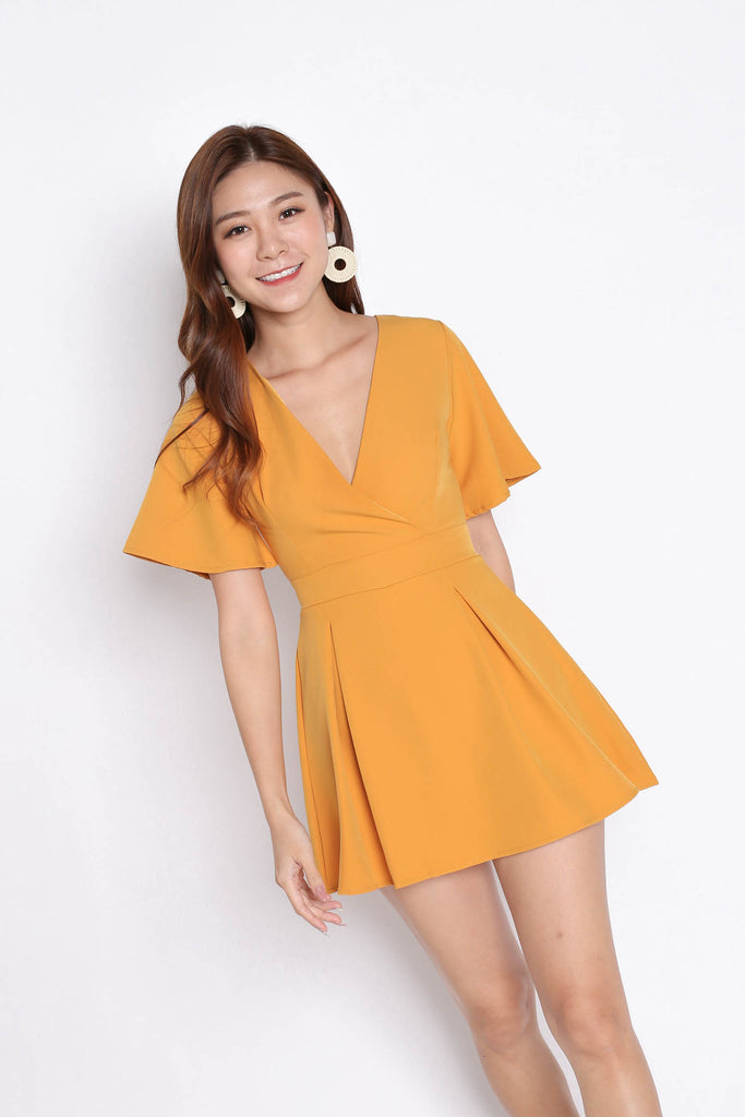 *TPZ* (PREMIUM) EMMER DRESS ROMPER IN MARIGOLD