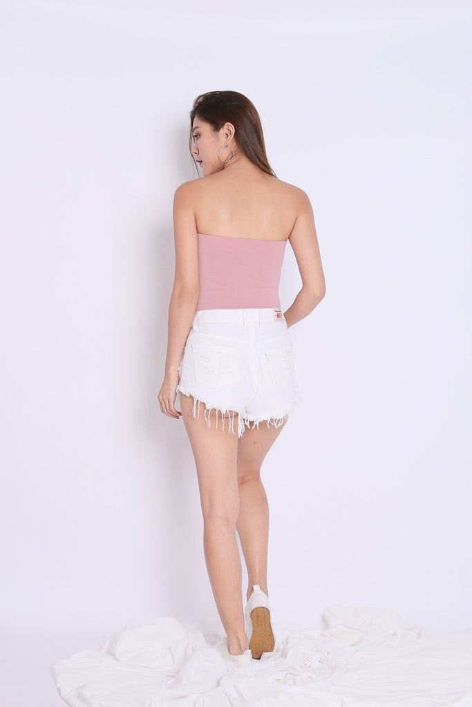 THE VERY BASIC TUBE TOP IN DUSTY PINK - TOPAZETTE