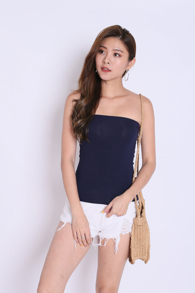 *BACKORDER* THE VERY BASIC TUBE TOP IN NAVY - TOPAZETTE