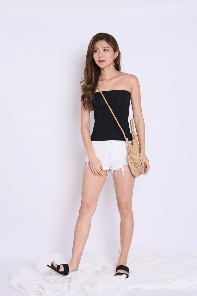 THE VERY BASIC TUBE TOP IN BLACK - TOPAZETTE