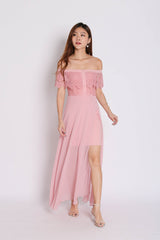 *TPZ* (PREMIUM) HOPE OFF SHOULDER LACE MAXI IN PINK