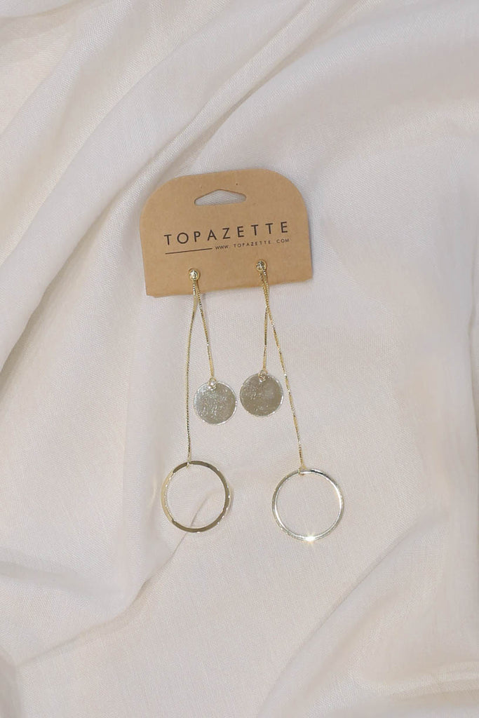 HARPER GOLD EARRINGS - TOPAZETTE
