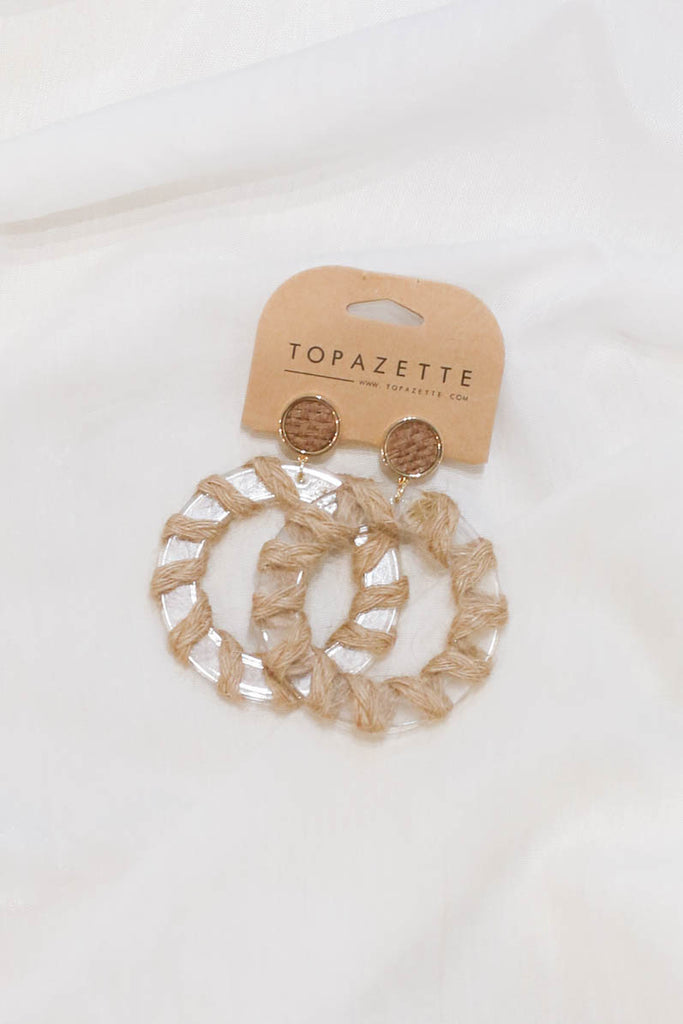BRIELE BOHO RING EARRINGS - TOPAZETTE