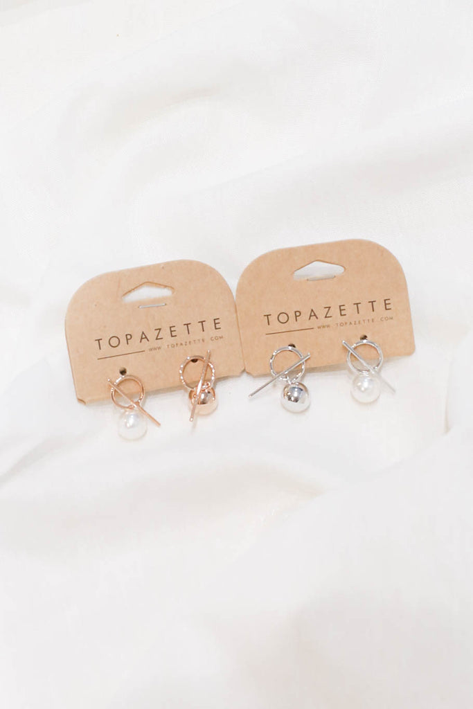 ALEXA PEARL EARRINGS - TOPAZETTE