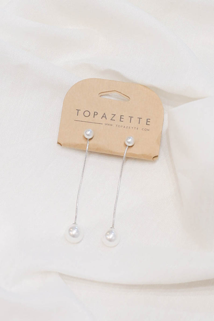 KAYLEE PEARL EARRINGS - TOPAZETTE