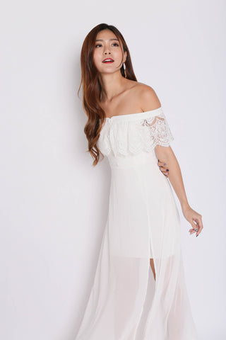 *TPZ* (PREMIUM) HOPE OFF SHOULDER LACE MAXI IN WHITE