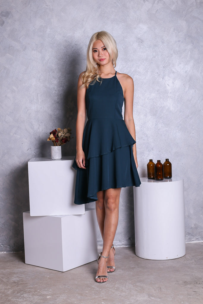 *TOPAZ* (PREMIUM) KYN TIERED DRESS IN FOREST - TOPAZETTE