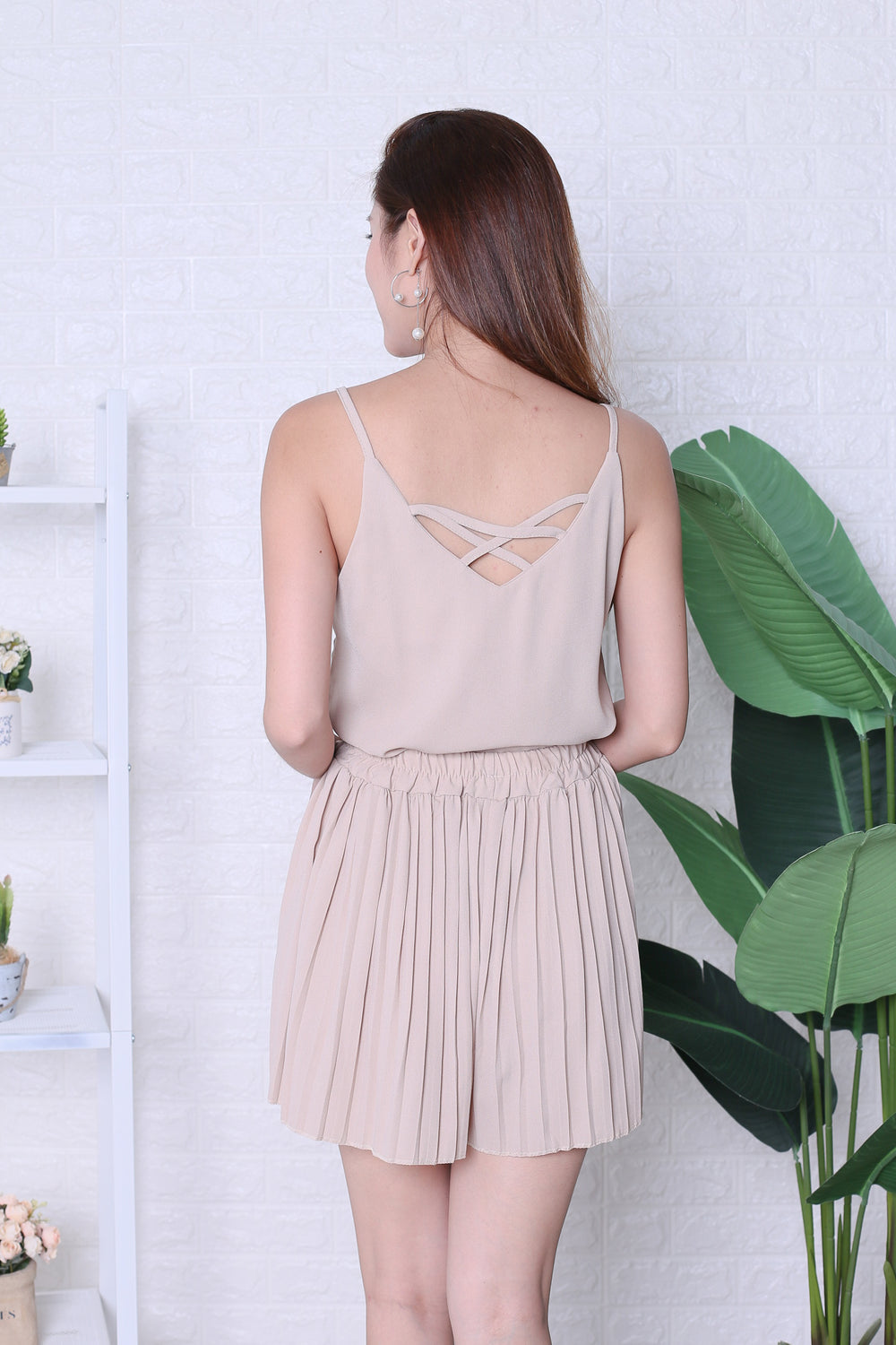 PLEATED DREAMS 2 PC SET IN NUDE