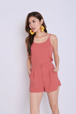SEGIO 2 PC TOP AND SHORTS SET IN CORAL